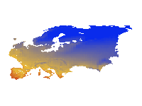 16 ka, Mean temperature of the Coldest Month (MCM)